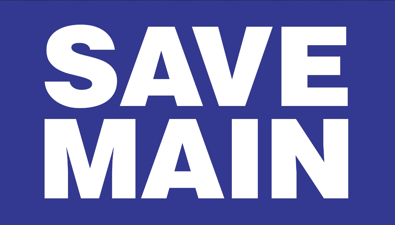 """Save Main - Glen Ellyn"" Logo"